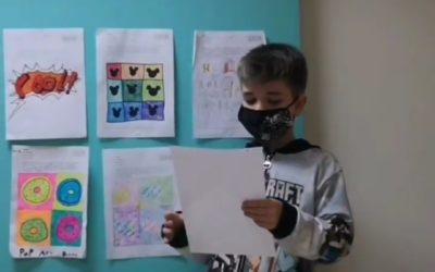 El projecte de Pop Art de 3r de primària ha estat meitat online meitat presencial.